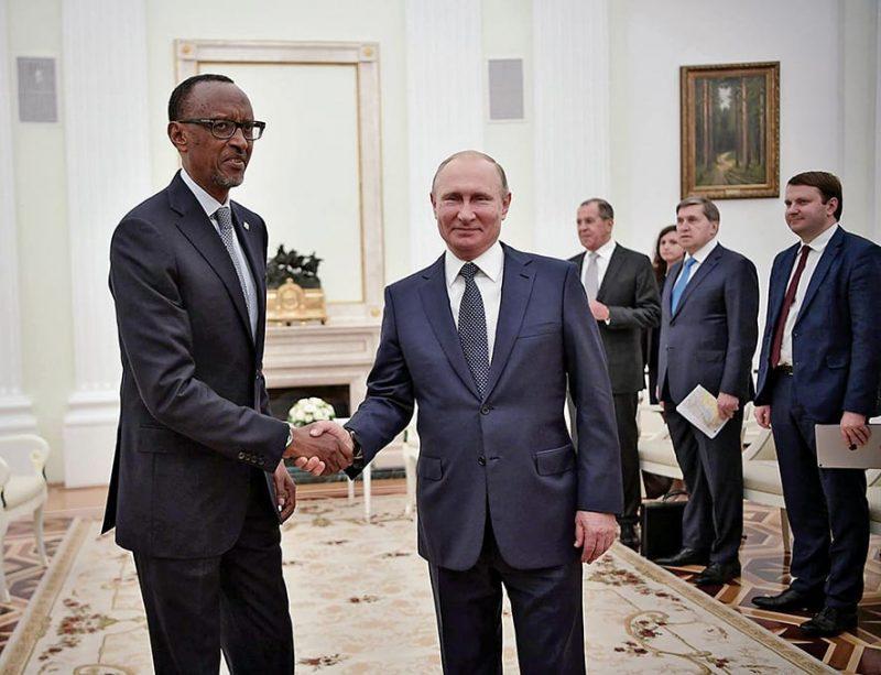 Paul Kagame and Vladimir Putin