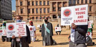 Unemployed graduates of SA.