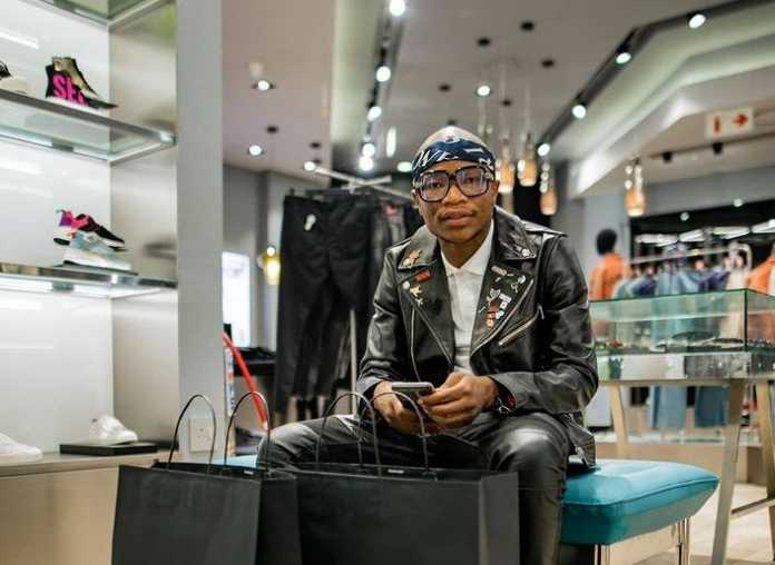 The Jerusalema hitmaker took to social media to share snaps of him in Sandton at a Diesel store where he was spending his hard-earned Euro's. Image: Instagram.